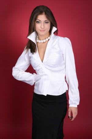 GHAZEL: Рубашка Запах 10136 - главное фото