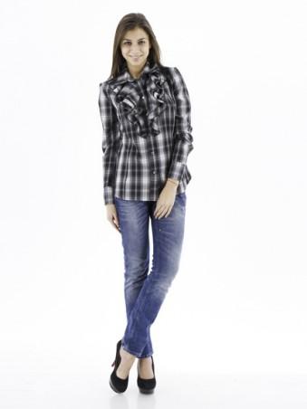 GHAZEL: Рубашка Клетка 10141 - главное фото