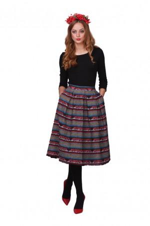 Lilo: Твидовая юбка клеш с карманами 01801 - главное фото