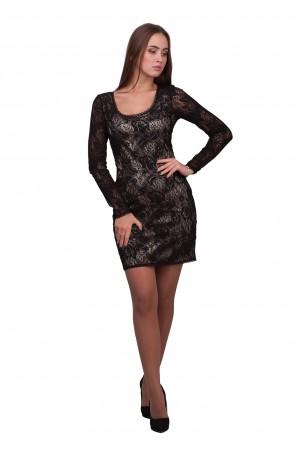 Lilo: Черное кружевное короткое платье-футляр 01901 - главное фото