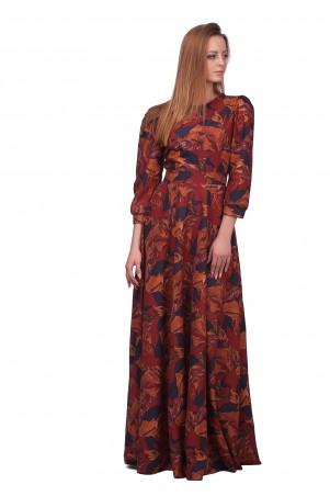Lilo: Длинное платье абстракция 01859 - главное фото