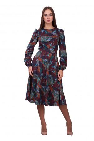 Lilo: Платье абстракция длиной миди 01844 - главное фото