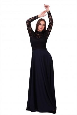 Lilo: Черно-синее платье в пол с ажурным топом Lilo 01838 - главное фото