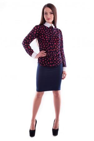 Modus: Блуза «Lips Шифон Микра Принт» 3135 - главное фото