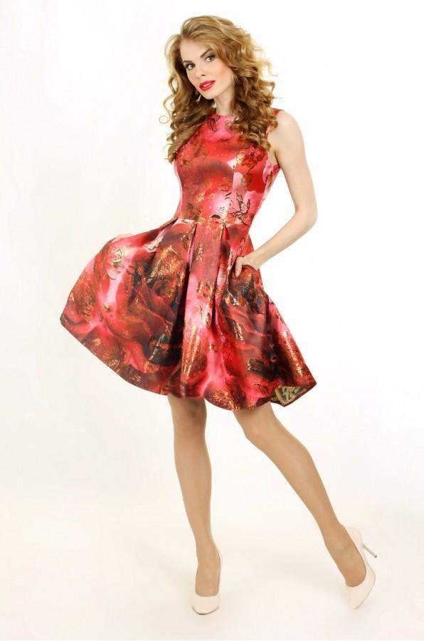 5864911b9ef Коктейльное платье из жаккарда P 0650 цвета от