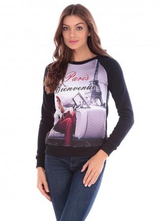 Irvik Trend: Женский свитшот регланPARIS 125 - главное фото