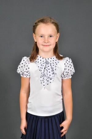 Leader Class Plus: Блуза Жабо к/р 1625 - главное фото