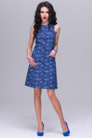 Jet: Платье АНИТА поплин Цветы синие 1152-5412 - главное фото