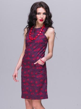 Jet: Платье АНИТА поплин Цветы красные 1152-5418 - главное фото