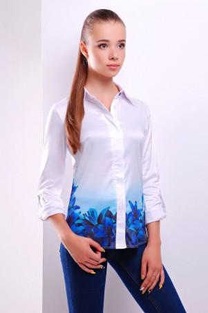Glem: Блуза Синие лилии  Ларси д/р - главное фото