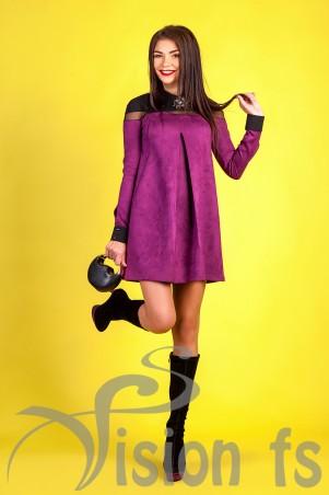 Vision FS: Эффектное платье из замши «L'amour» 16516 - главное фото