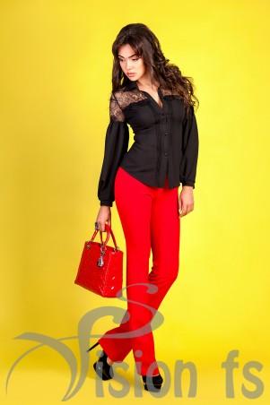 Vision FS: Блуза с кружевом «Шик» 16610 - главное фото