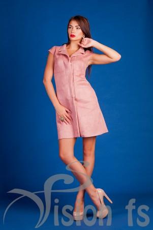 Vision FS: Элегантное платье из замши «Элизабет» 16517 - главное фото