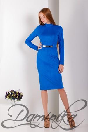 Daminika: Платье – футляр из замши «Мэридит» 11608 - главное фото