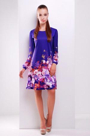 Glem: Платье Фиолетовый букет  Тана-1Ф (шифон) д/р - главное фото