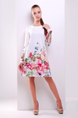 Glem: Платье Белый букет  Тана-1Ф (шифон) д/р - главное фото