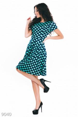 ISSA PLUS: Платья 9040_синий/зеленый - главное фото