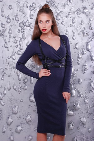 """TessDress: Стильное женское платье """"Деми"""" gray 1323 - главное фото"""