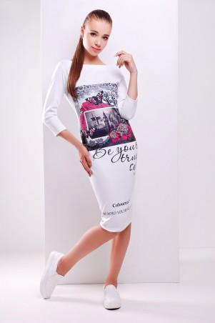 Glem: Платье Colourno 19 белый  Лоя-2Ф д/р - главное фото
