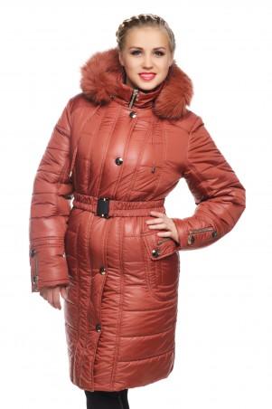 Кариант: Куртка зимняя Бетти кирпич - главное фото