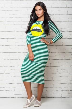 A-Dress: Полосатое платье с яркими пайетками 7010-4 - главное фото