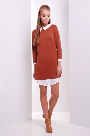 MarSe: Платье 1624 кирпичный - главное фото