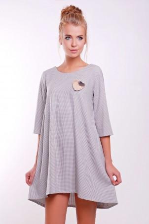 Zefir: Платье-колокольчик CLARIN светло-серое - главное фото