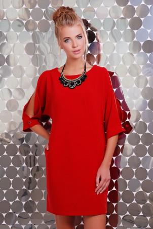 Zefir: Платье  с украшением в комплекте CHOKER красное - главное фото