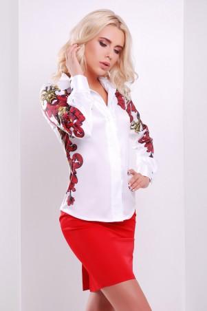 Glem: Блуза Узор красно-желтый  Ларси-3 д/р - главное фото