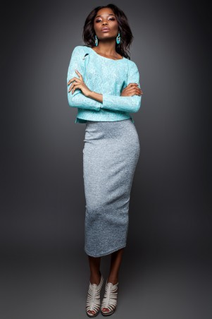 Jadone Fashion: Костюм (блуза и юбка) Лукас М-4 - главное фото