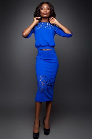 Jadone Fashion: Костюм (блуза и юбка) Кэролайн М-8 - главное фото