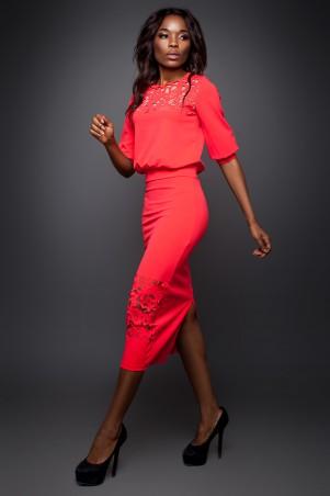 Jadone Fashion: Костюм (блуза и юбка) Кэролайн М-5 - главное фото