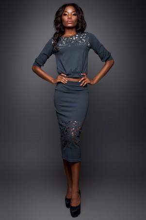 Jadone Fashion: Костюм (блуза и юбка) Кэролайн М-4 - главное фото