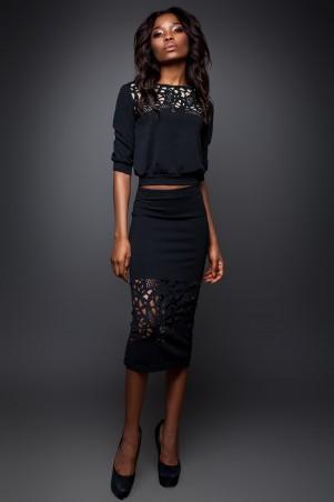Jadone Fashion: Костюм (блуза и юбка) Кэролайн М-1 - главное фото