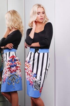 Glem: Платье Цветы-полоска  Вили д/р - главное фото