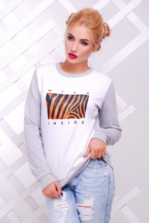 "FashionUp: Свитшот ""Cotton"" KF-1386С - главное фото"