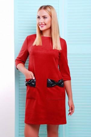 """FashionUp: Платье """"Кожаный Бант"""" PL-1351D1 - главное фото"""
