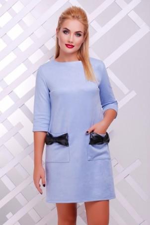 """FashionUp: Платье """"Кожаный Бант"""" PL-1351G1 - главное фото"""