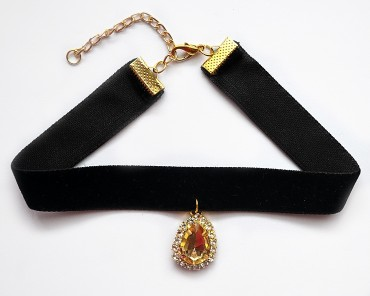 Simply brilliant: Чокер Чокер1020_золотой камень - главное фото