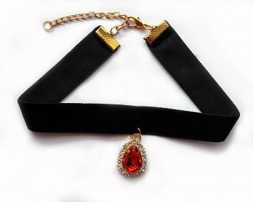 Simply brilliant: Чокер Чокер1019_красный камень - главное фото
