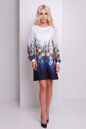 Glem: Платье Мальвы синий  Тана-1Ф (шифон) д/р - главное фото