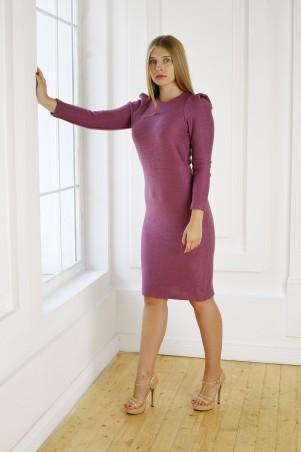 Шатня: Платье в кирпично-красном цвете с высоким рукавом. Я 1114 - главное фото
