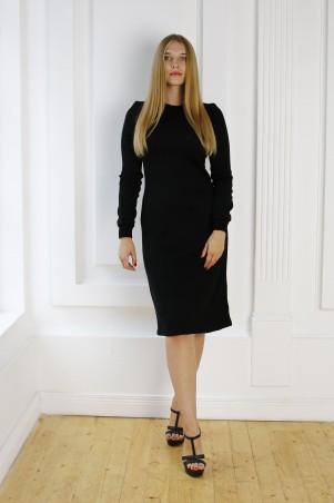 Шатня: Платье черное с ажурной вставкой по груди Я 1109 - главное фото