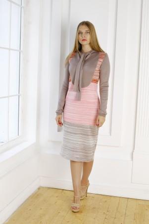 Шатня: Платье с воротником-оборка я1103 - главное фото