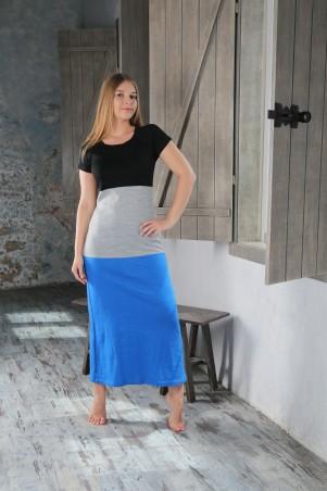 Шатня: Платье длинное в полоску я0400 - главное фото