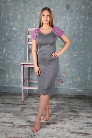 Шатня: Платье серое я0200 - главное фото