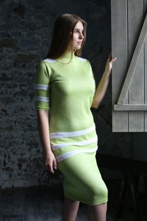 Шатня: Платье зеленое ажурное я0100 - главное фото