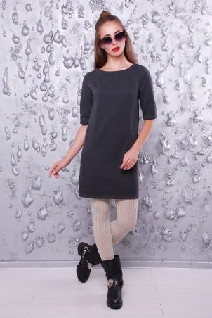 """TessDress: Платье в стиле кэжуал """"Памела"""" gray 1406 - главное фото"""