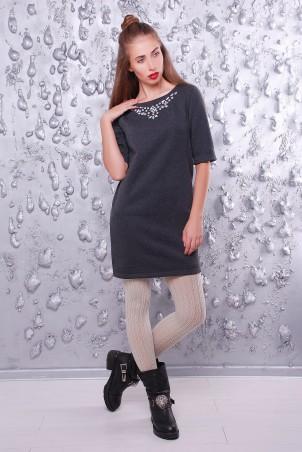"""TessDress: Платье в стиле оверсайз """"Next"""" gray 1405 - главное фото"""