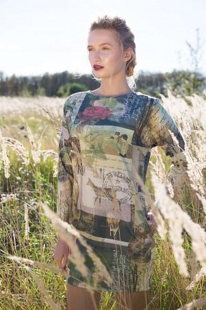 Zefir: Платье прямое с принтом BOOK - главное фото